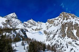 Grand Teton, Owen and Teewinot in Winter